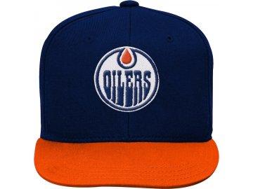 Dětská Kšiltovka Edmonton Oilers Two-Tone Flatbrim Snapback