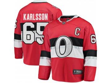 Dres Ottawa Senators #65 Erik Karlsson Fanatics Branded Breakaway NHL 100 Classic