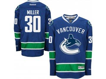 Dres Vancouver Canucks #30 Ryan Miller Reebok Premier Jersey Home