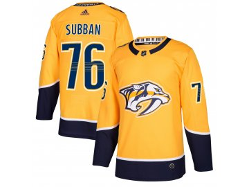 Dres Nashville Predators #76 PK Subban adizero Home Authentic Player Pro