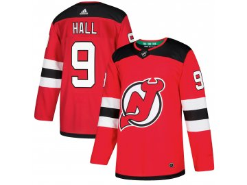 Dres New Jersey Devils #9 Taylor Hall adizero Home Authentic Player Pro