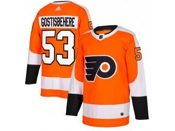Dres Philadelphia Flyers #53 Shayne Gostisbehere adizero Home Authentic Player Pro