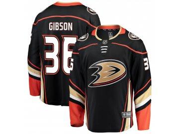 Dres Anaheim Ducks #36 John Gibson Breakaway Home Jersey
