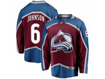Dres Colorado Avalanche #6 Erik Johnson Breakaway Alternate Jersey