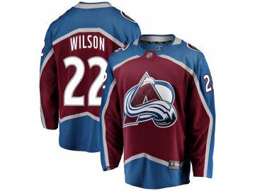 Dres Colorado Avalanche #22 Colin Wilson Breakaway Alternate Jersey