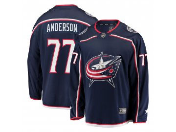 Dres Columbus Blue Jackets #77 Josh Anderson Breakaway Alternate Jersey