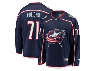 Dres Columbus Blue Jackets #71 Nick Foligno Breakaway Alternate Jersey