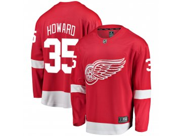 Dres Detroit Red Wings #35 Jimmy Howard Breakaway Alternate Jersey