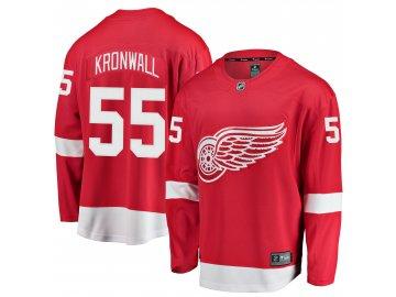 Dres Detroit Red Wings #55 Niklas Kronwall Breakaway Alternate Jersey