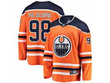 Dres Edmonton Oilers #98 Jesse Puljujarvi Breakaway Alternate Jersey