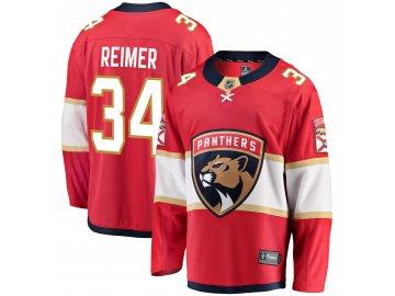Dres Florida Panthers #34 James Reimer Breakaway Alternate Jersey