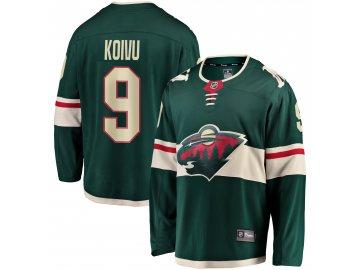 Dres Minnesota Wild #9 Mikko Koivu Breakaway Alternate Jersey