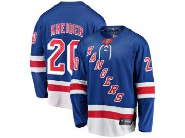 Dres New York Rangers #20 Chris Kreider Breakaway Alternate Jersey