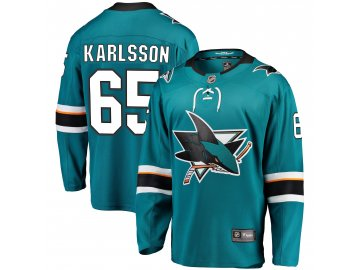 Dres San Jose Sharks #65 Erik Karlsson Breakaway Alternate Jersey