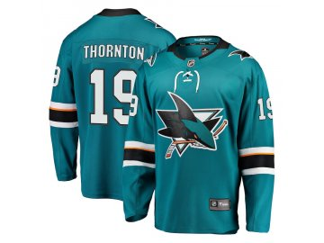 Dres San Jose Sharks #19 Joe Thornton Breakaway Alternate Jersey
