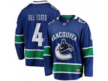 Dres Vancouver Canucks #4 Michael Del Zotto Breakaway Alternate Jersey