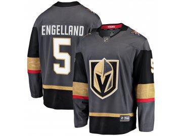 Dres Vegas Golden Knights #5 Deryk Engelland Breakaway Alternate Jersey