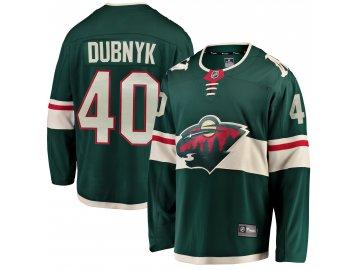Dětský dres Minnesota Wild # 40 Devan Dubnyk Breakaway Home Jersey