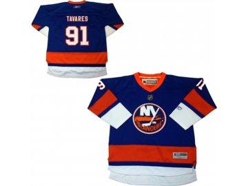 Dětský dres New York Islanders #91 John Tavares Reebok Replica Home