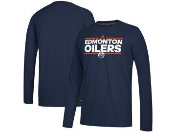 Tričko Edmonton Oilers Adidas Dassler Climalite Long Sleeve