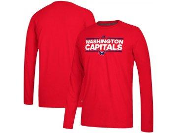 Tričko Washington Capitals Adidas Dassler Climalite Long Sleeve