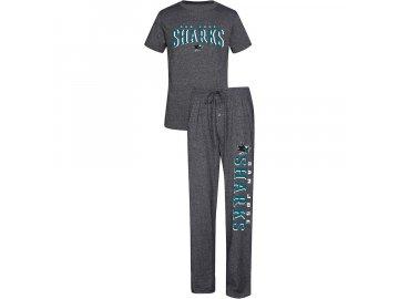 Pánské Pyžamo San Jose Sharks Spar Top & Pants Sleep Set