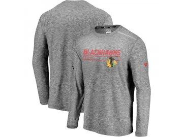 Tričko Chicago Blackhawks Authentic Pro Clutch Long Sleeve