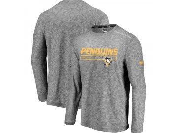Tričko Pittsburgh Penguins Authentic Pro Clutch Long Sleeve