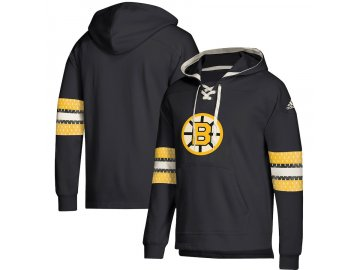 Mikina Boston Bruins Adidas Jersey Lace-Up Pullover Hoodie