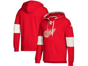 Mikina Detroit Red Wings Adidas Jersey Lace-Up Pullover Hoodie