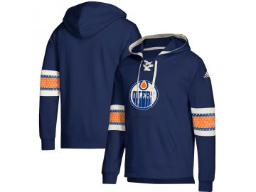 Mikina Edmonton Oilers Adidas Jersey Lace-Up Pullover Hoodie