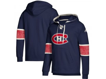 Mikina Montreal Canadiens Adidas Jersey Lace-Up Pullover Hoodie