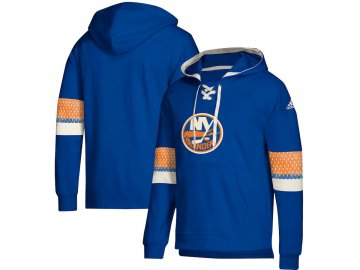 Mikina New York Islanders Adidas Jersey Lace-Up Pullover Hoodie
