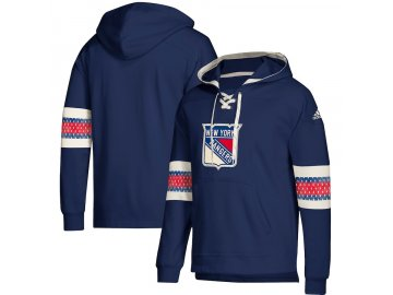 Mikina New York Rangers Adidas Jersey Lace-Up Pullover Hoodie