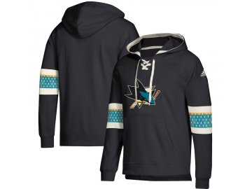 Mikina San Jose Sharks Adidas Jersey Lace-Up Pullover Hoodie