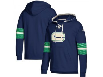 Mikina Vancouver Canucks Adidas Jersey Lace-Up Pullover Hoodie