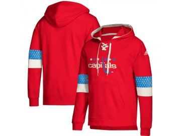 Mikina Washington Capitals Adidas Jersey Lace-Up Pullover Hoodie