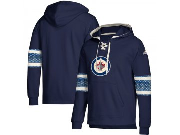 Mikina Winnipeg Jets Adidas Jersey Lace-Up Pullover Hoodie