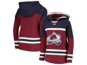 Dětská Mikina Colorado Avalanche Asset Lace-Up Pullover Hoodie