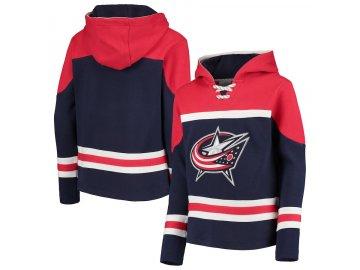 Dětská Mikina Columbus Blue Jackets Asset Lace-Up Pullover Hoodie