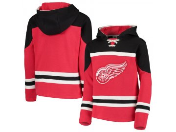 Dětská Mikina Detroit Red Wings Asset Lace-Up Pullover Hoodie