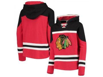 a462f898c89 Dětská Mikina Chicago Blackhawks Asset Lace-Up Pullover Hoodie