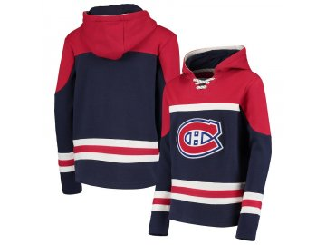 Dětská Mikina Montreal Canadiens Asset Lace-Up Pullover Hoodie