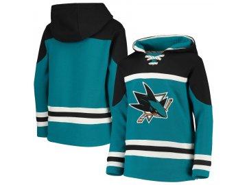 Dětská Mikina San Jose Sharks Asset Lace-Up Pullover Hoodie
