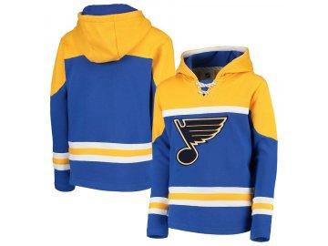 Dětská Mikina St. Louis Blues Asset Lace-Up Pullover Hoodie