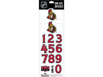 Samolepky na helmu Ottawa Senators Decals