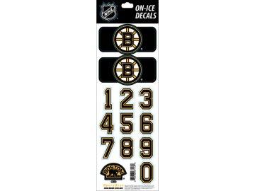 Samolepky na helmu Boston Bruins Decals Black