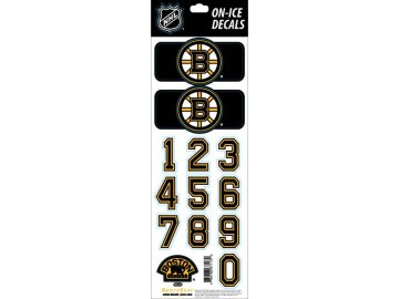 Samolepky na helmu Boston Bruins Decals Black