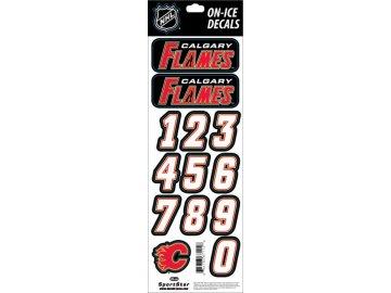 Samolepky na helmu Calgary Flames Decals Black
