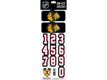 Samolepky na helmu Chicago Blackhawks Decals Black